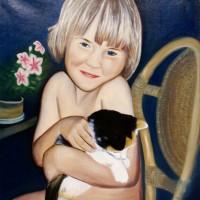 Kamilka s kotětem