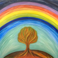 Duha a strom